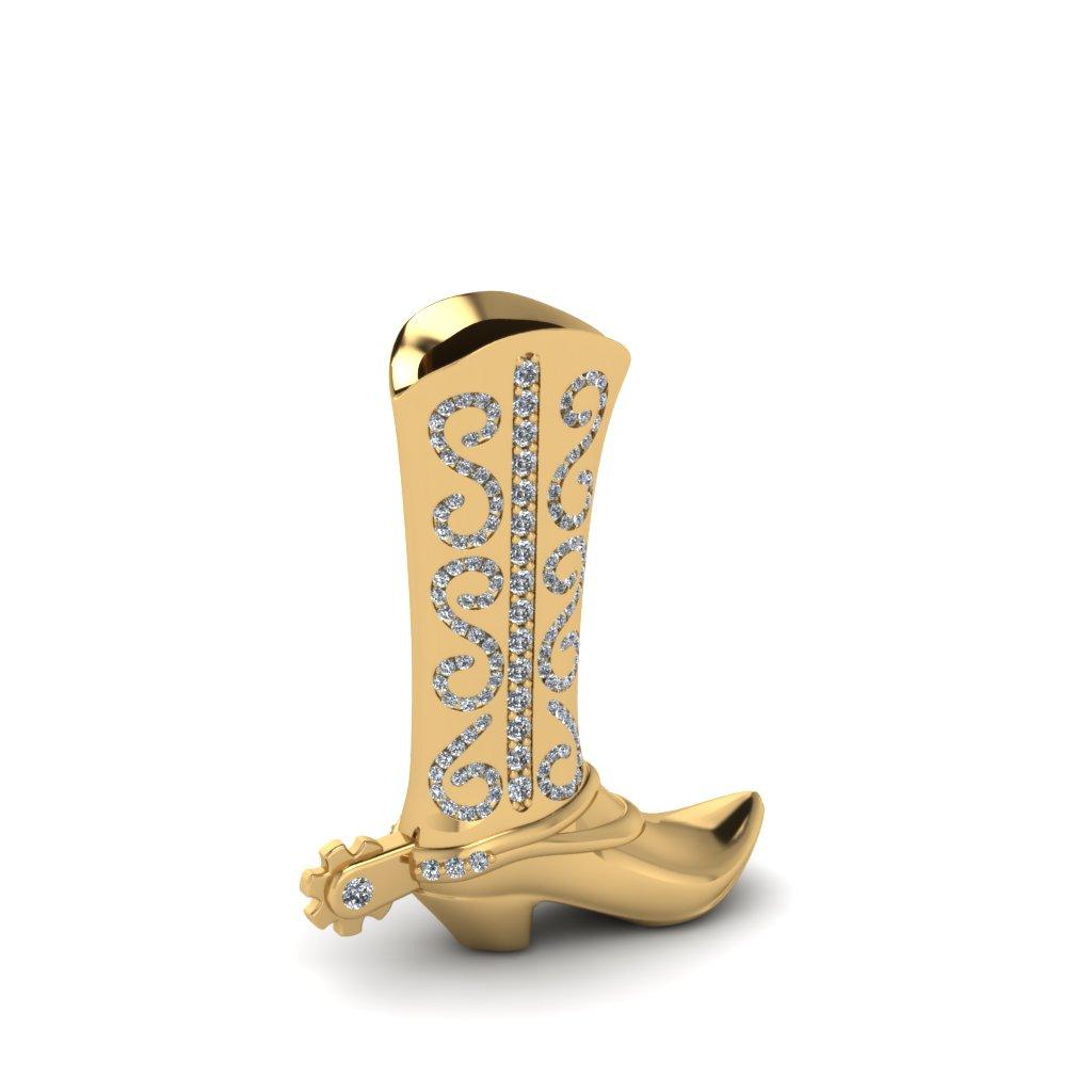 Custom Texas Boot Pendant 1